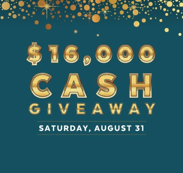 $16,000 Cash Giveaway - River Rock Casino Resort